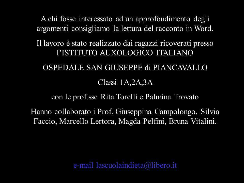 OSPEDALE SAN GIUSEPPE di PIANCAVALLO Classi 1A,2A,3A
