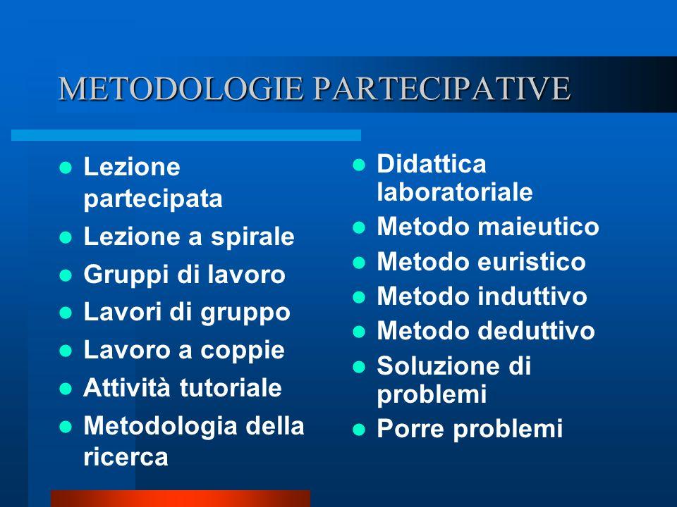 METODOLOGIE PARTECIPATIVE