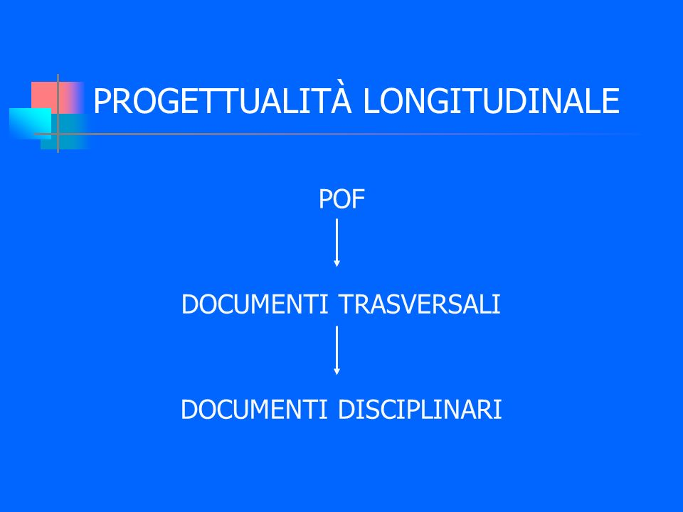 PROGETTUALITÀ LONGITUDINALE