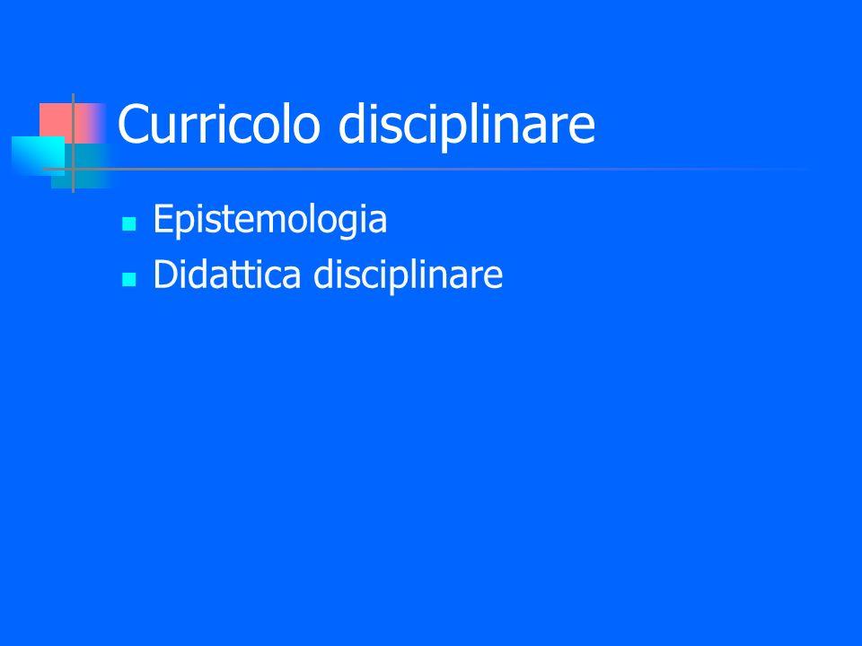 Curricolo disciplinare