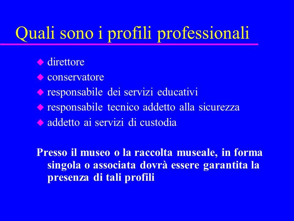 Quali sono i profili professionali