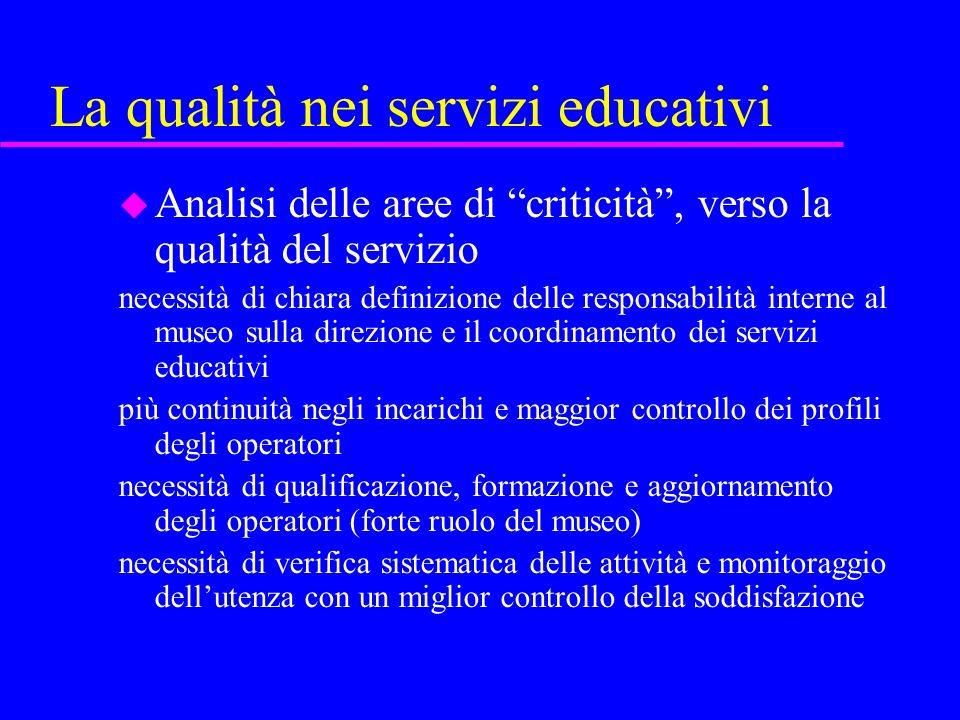 La qualità nei servizi educativi