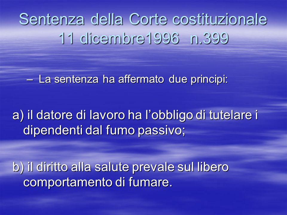 Sentenza della Corte costituzionale 11 dicembre1996 n.399