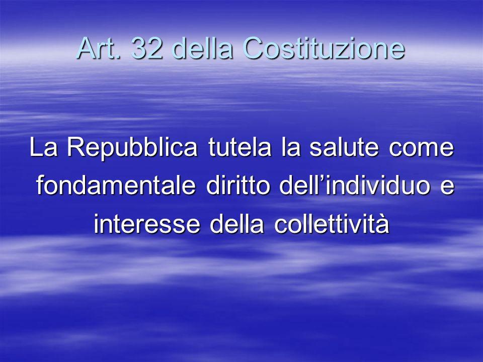 Art. 32 della Costituzione