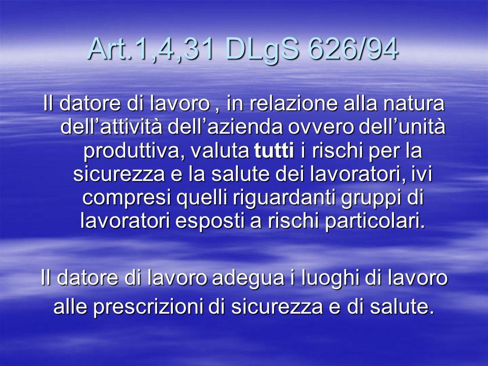 Art.1,4,31 DLgS 626/94