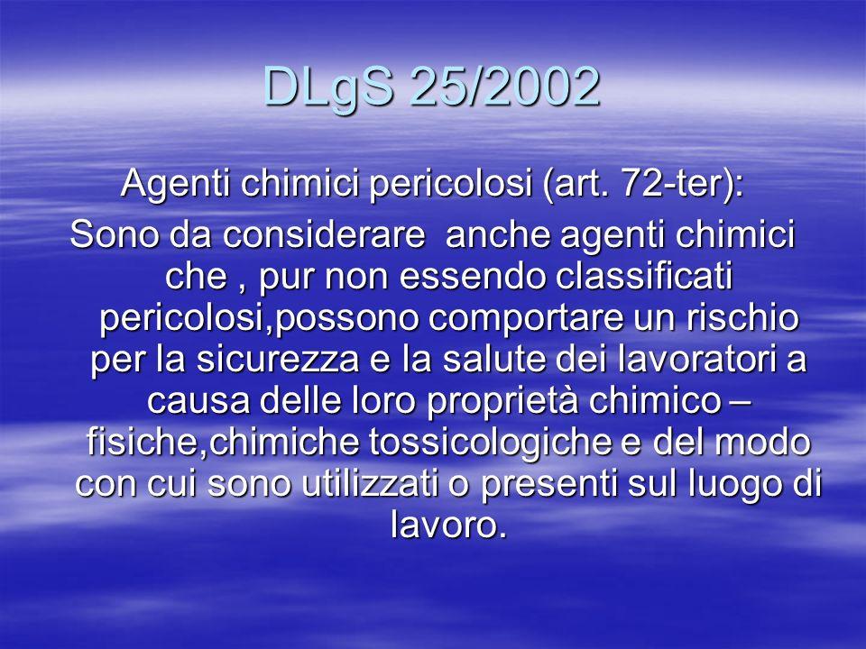 Agenti chimici pericolosi (art. 72-ter):