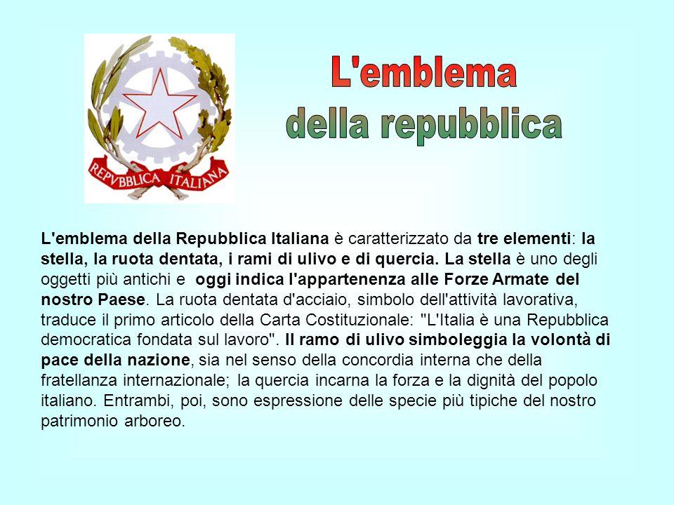 L emblema della repubblica