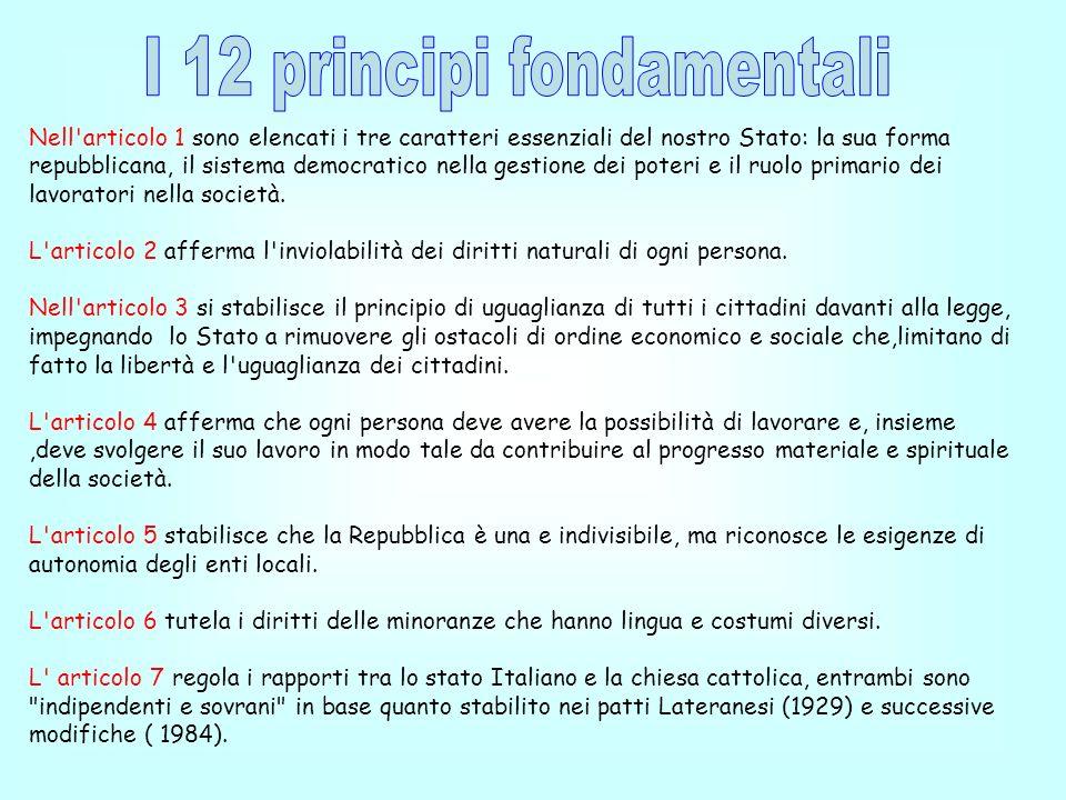 I 12 principi fondamentali