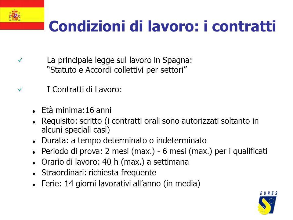 Condizioni di lavoro: i contratti