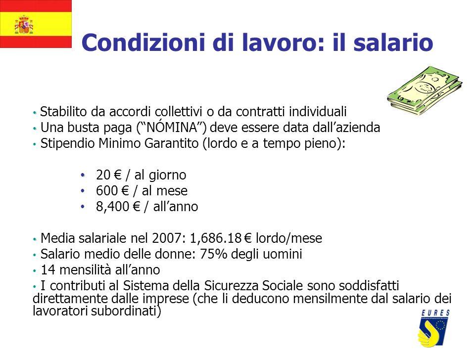 Condizioni di lavoro: il salario