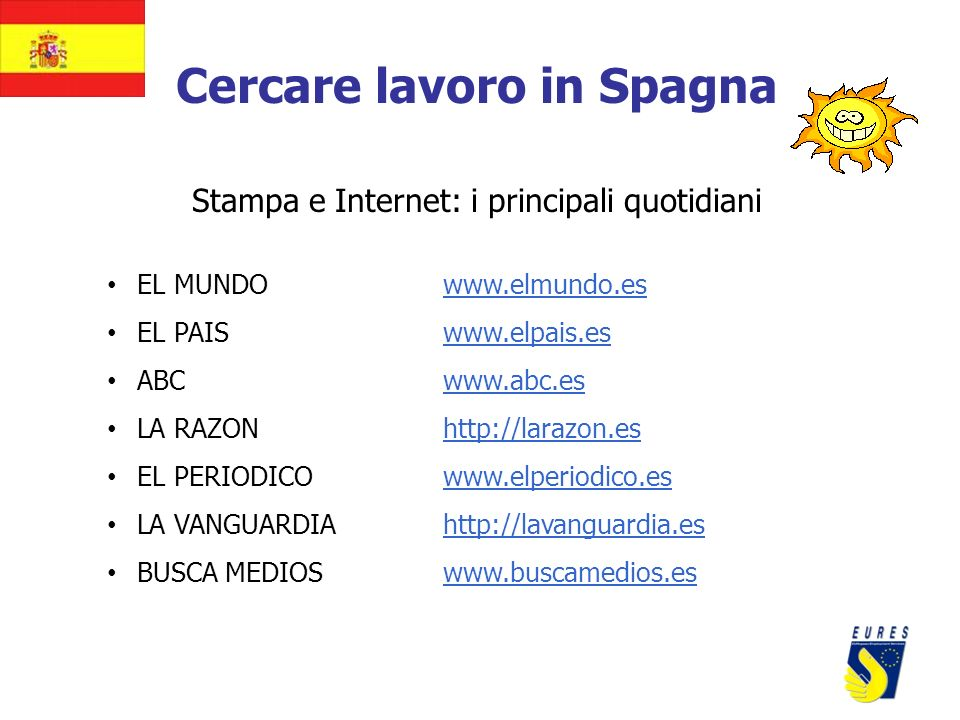 Cercare lavoro in Spagna
