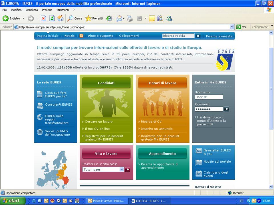 Si possono trovare info e servizi su: