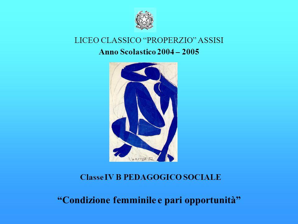 Condizione femminile e pari opportunità