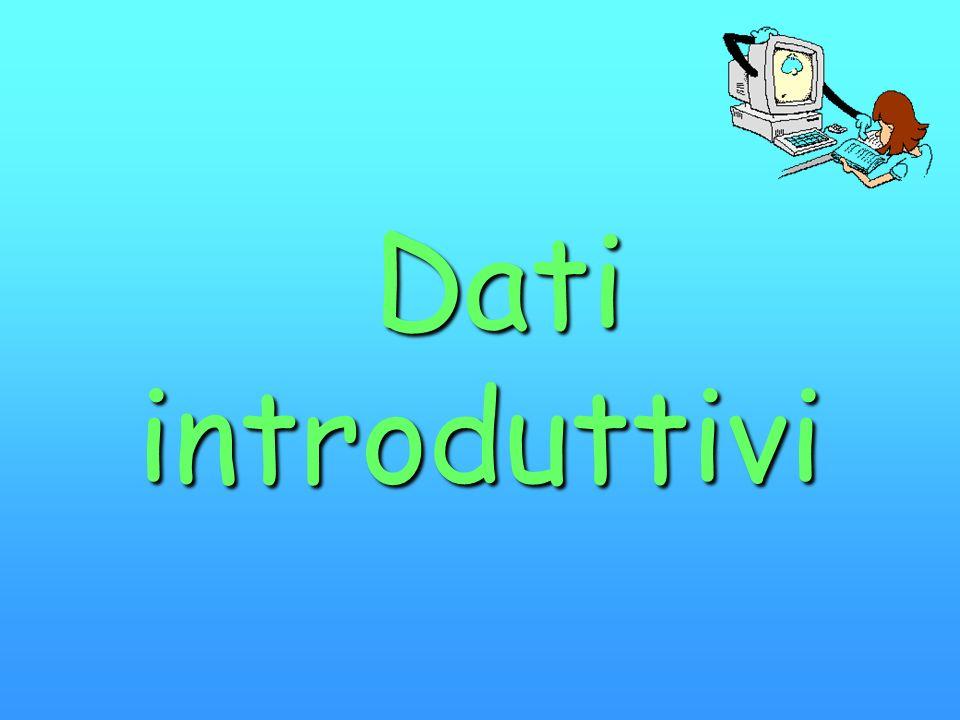 Dati introduttivi