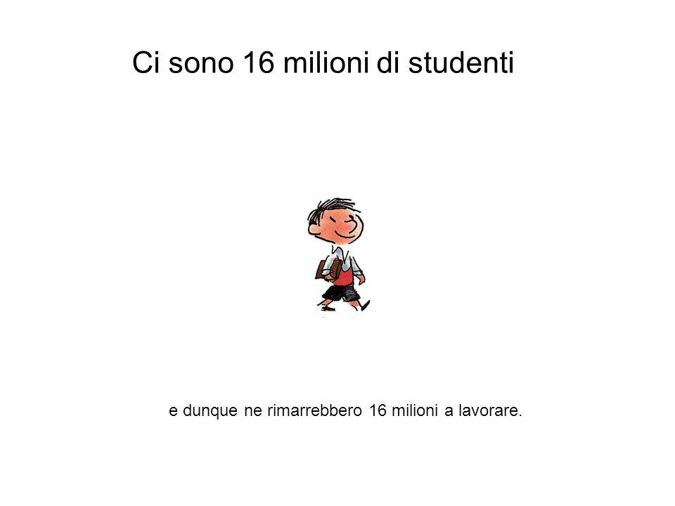 Ci sono 16 milioni di studenti