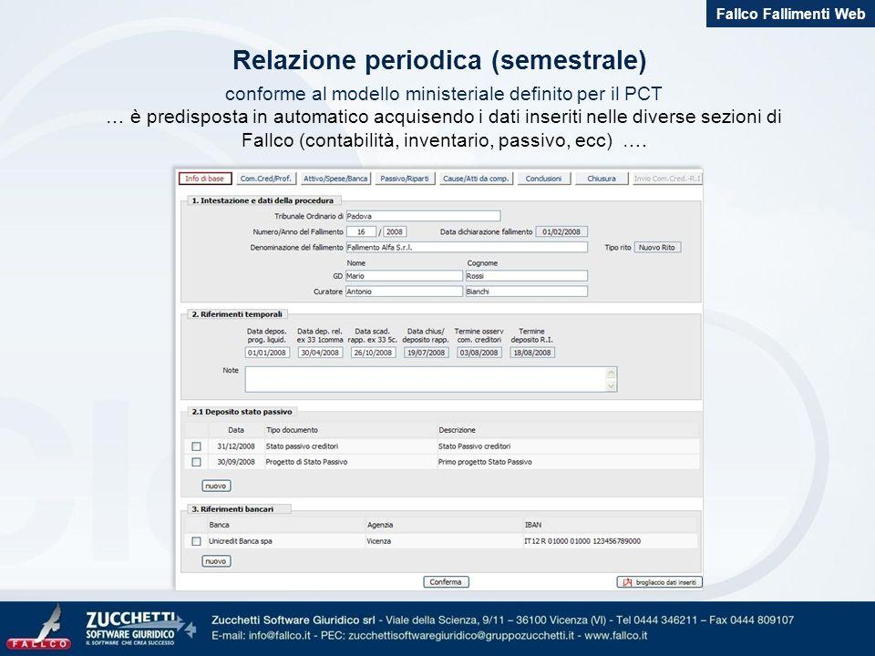 Relazione periodica (semestrale)