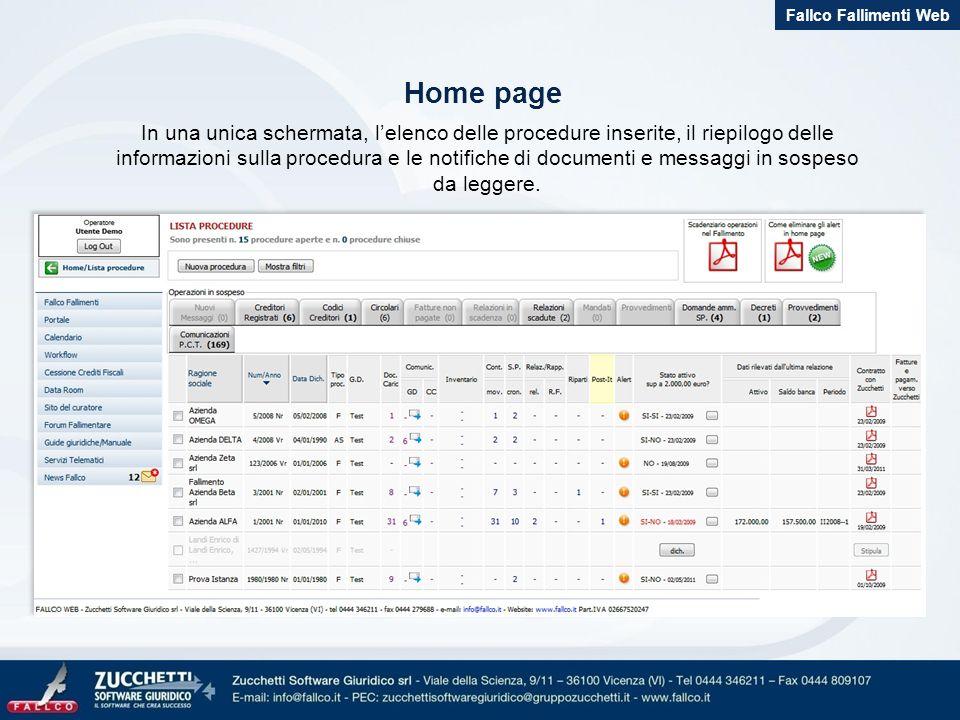 Fallco Fallimenti Web Home page.