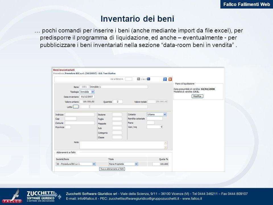 Fallco Fallimenti Web Inventario dei beni.