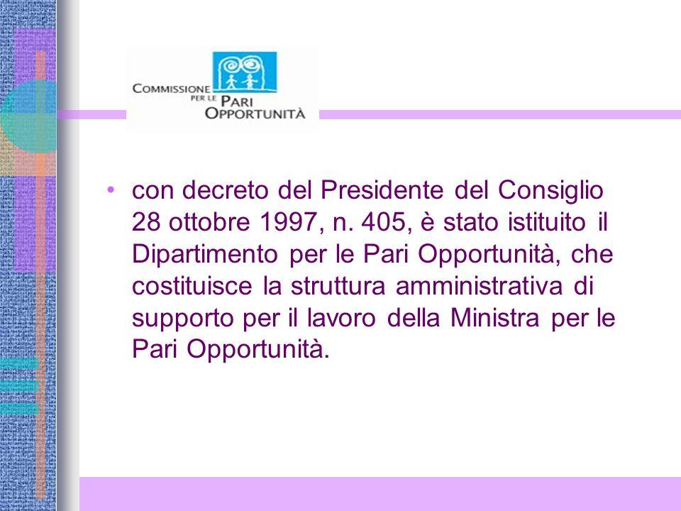 con decreto del Presidente del Consiglio 28 ottobre 1997, n