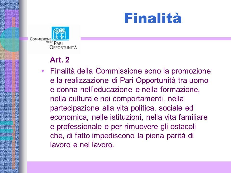 Finalità Art. 2.
