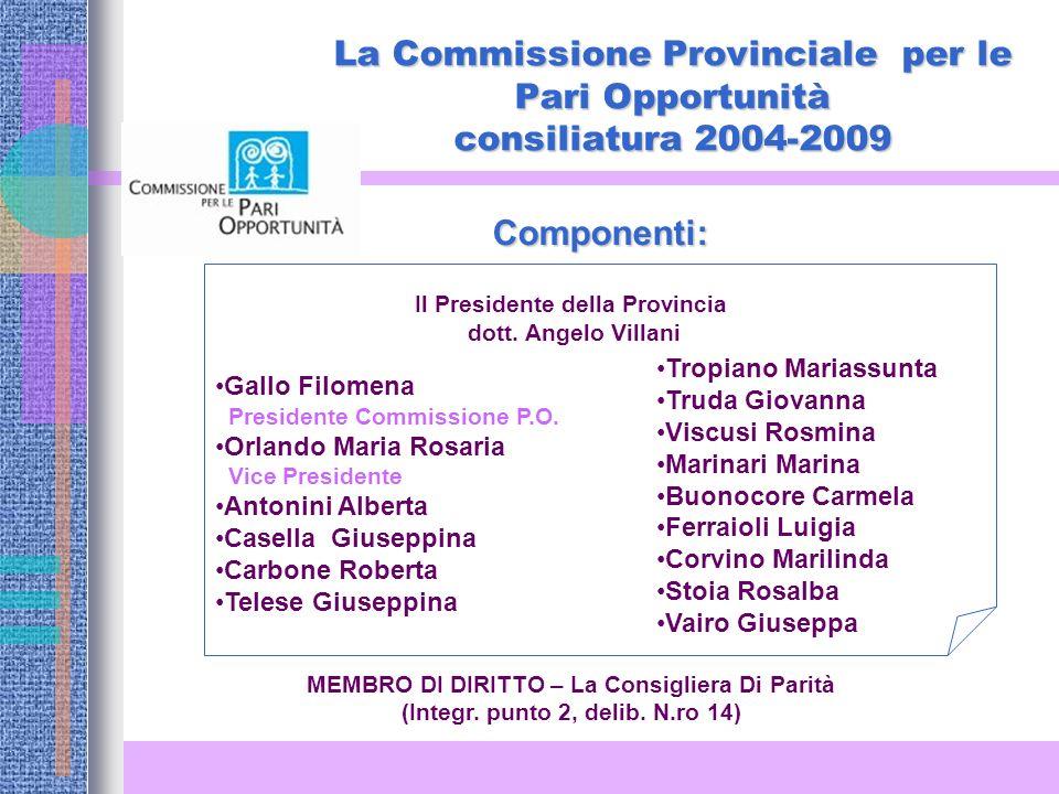 La Commissione Provinciale per le Pari Opportunità consiliatura 2004-2009