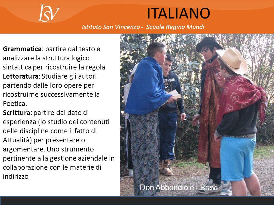 ITALIANO Istituto San Vincenzo - Scuole Regina Mundi.