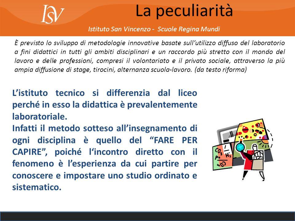 La peculiarità Istituto San Vincenzo - Scuole Regina Mundi.