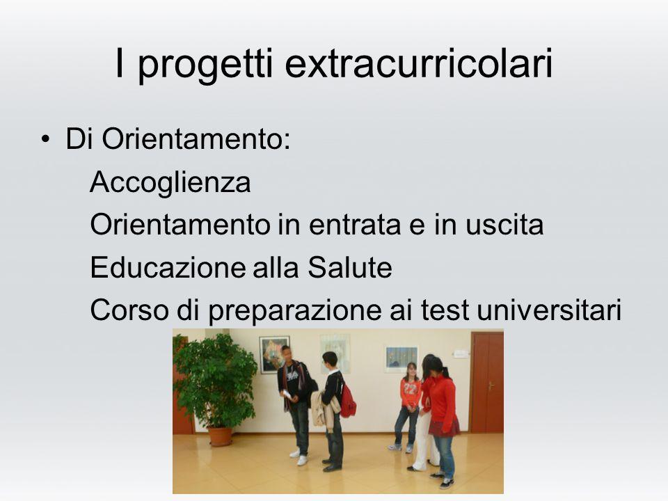 I progetti extracurricolari