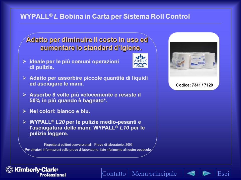 WYPALL® L Bobina in Carta per Sistema Roll Control