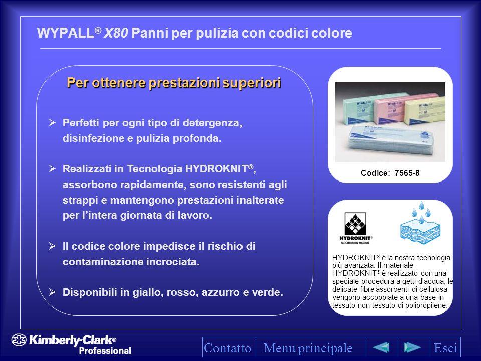 WYPALL® X80 Panni per pulizia con codici colore