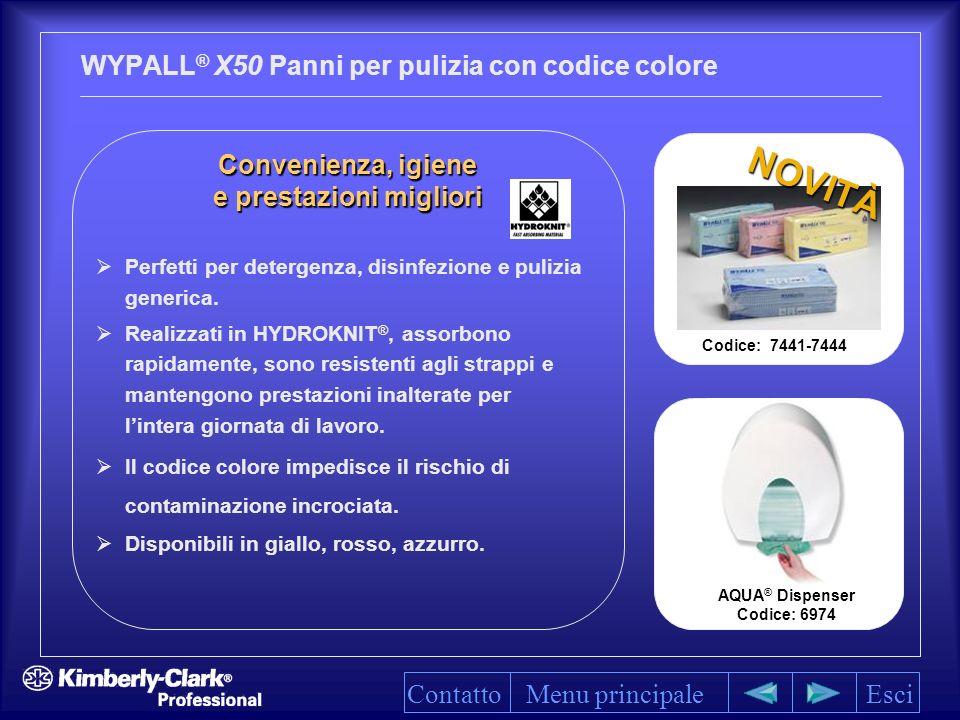 WYPALL® X50 Panni per pulizia con codice colore
