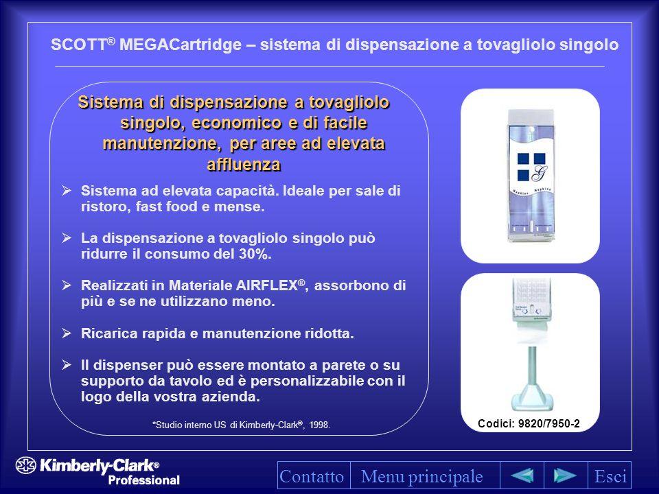 SCOTT® MEGACartridge – sistema di dispensazione a tovagliolo singolo