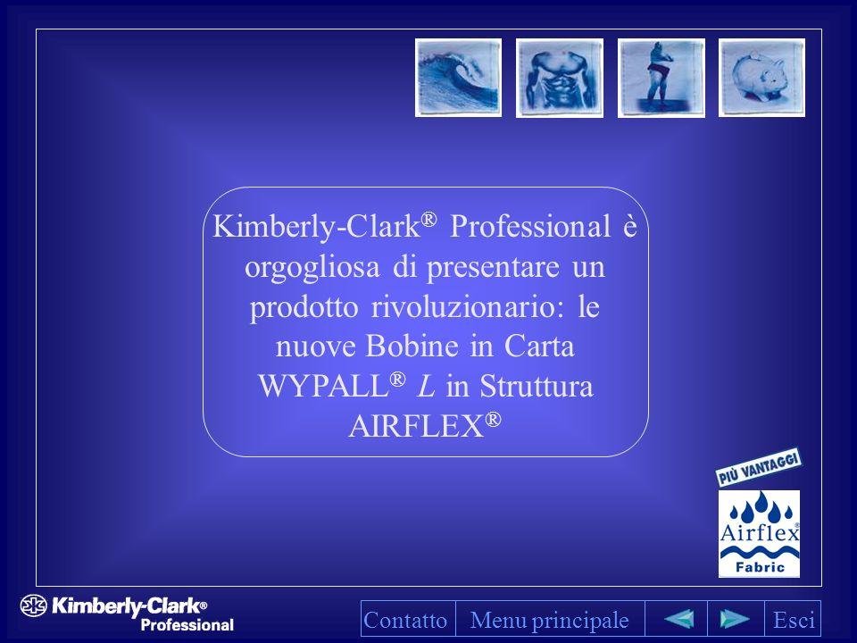 Kimberly-Clark® Professional è orgogliosa di presentare un prodotto rivoluzionario: le nuove Bobine in Carta WYPALL® L in Struttura AIRFLEX®