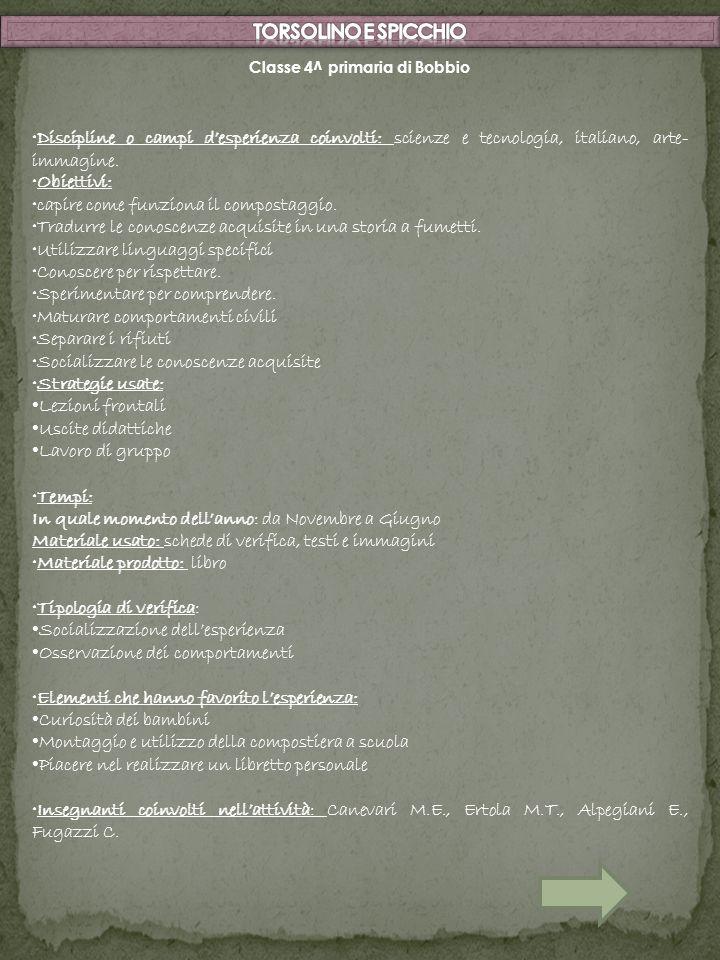 Classe 4^ primaria di Bobbio