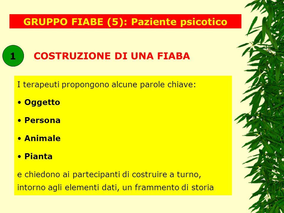GRUPPO FIABE (5): Paziente psicotico