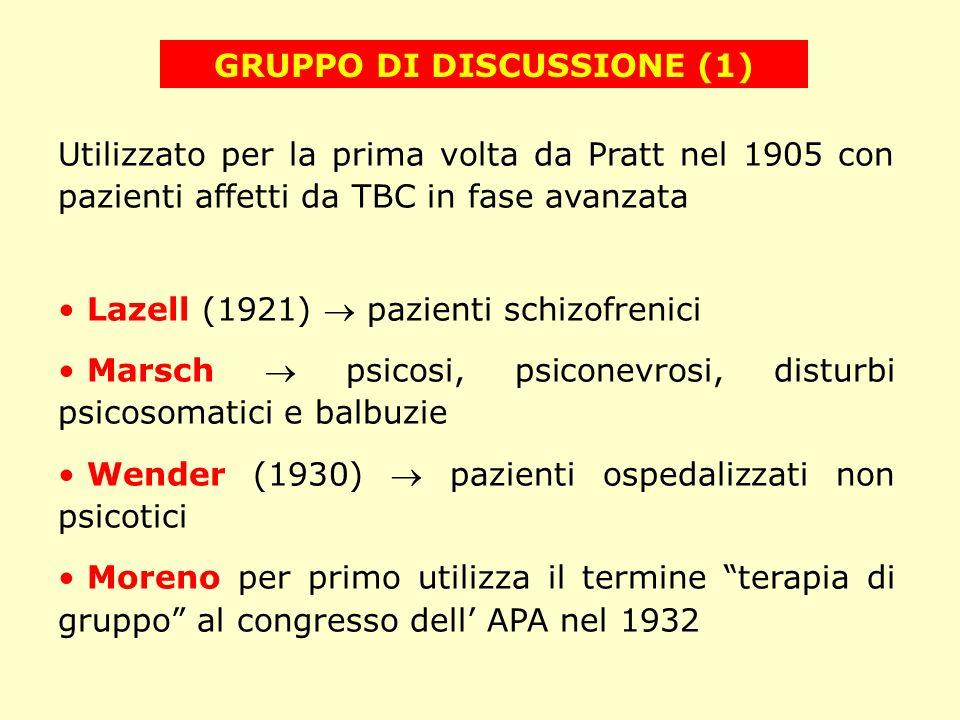 GRUPPO DI DISCUSSIONE (1)