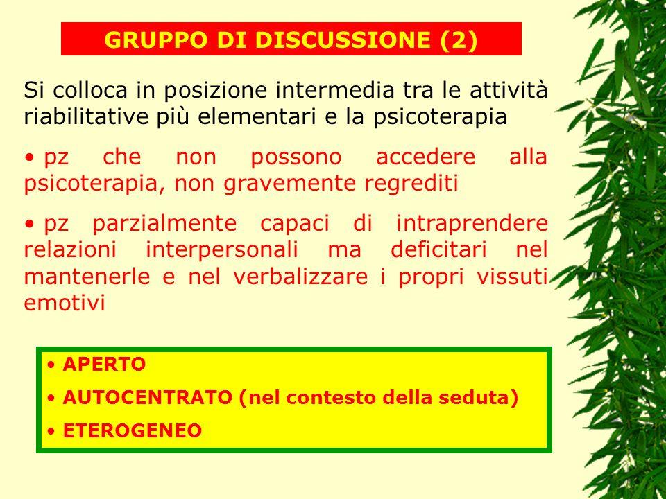 GRUPPO DI DISCUSSIONE (2)