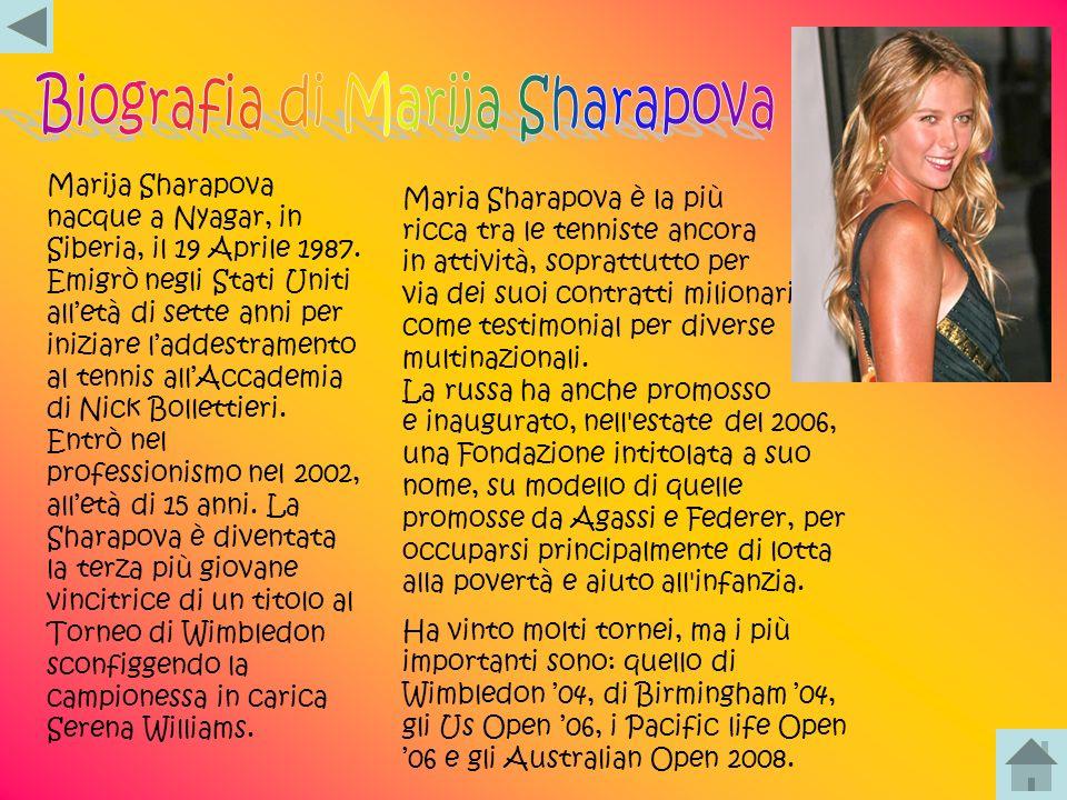 Biografia di Marija Sharapova