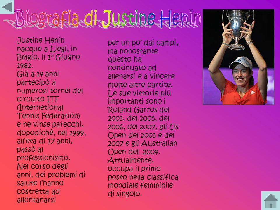 Biografia di Justine Henin
