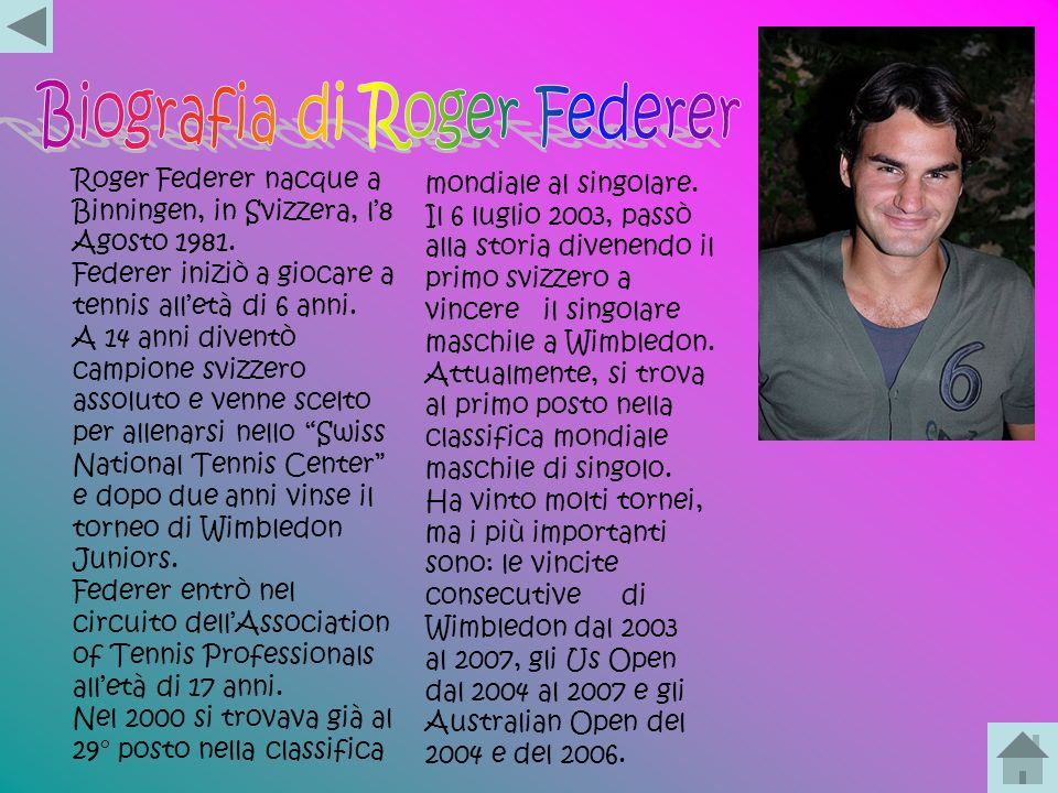 Biografia di Roger Federer