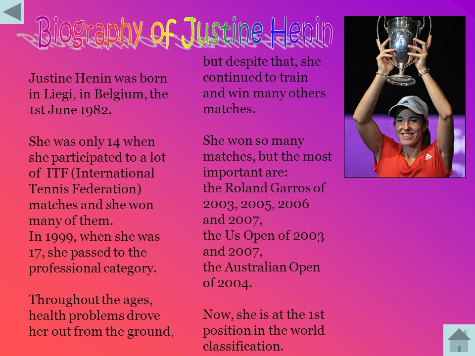 Biography of Justine Henin