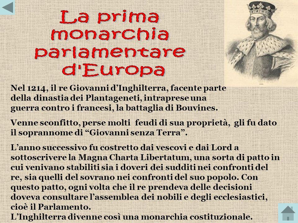 La prima monarchia parlamentare d Europa