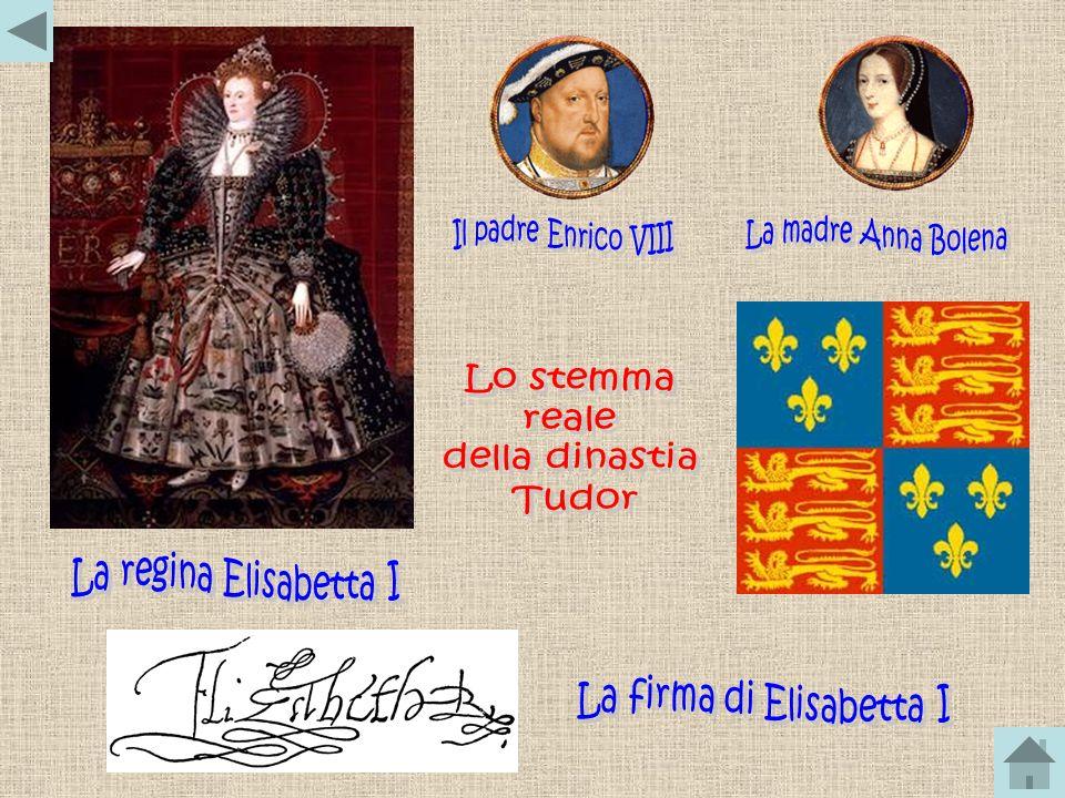 La firma di Elisabetta I