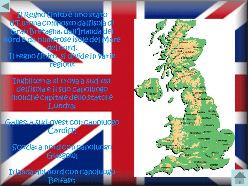 Il regno Unito si divide in varie regioni: