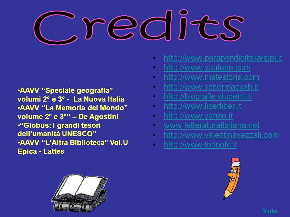 Credits http://www.parapendioitalia/alpi.it http://www.youtube.com