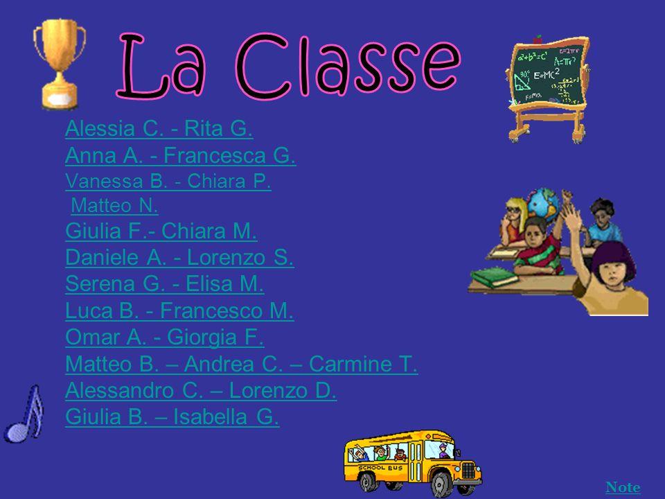 La Classe Alessia C. - Rita G. Anna A. - Francesca G.