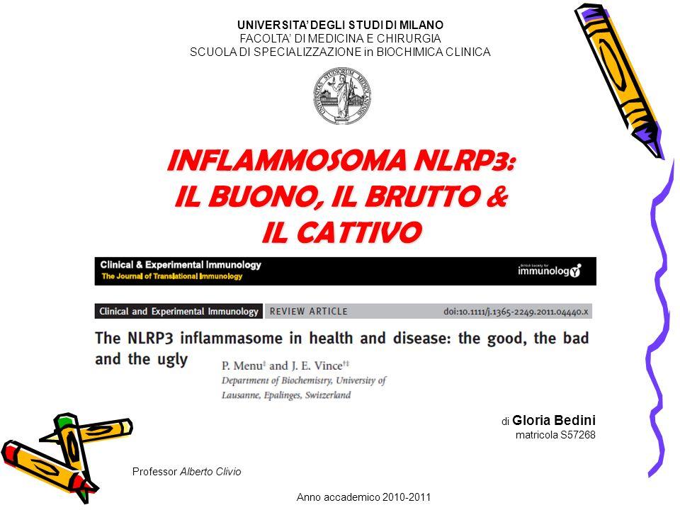 INFLAMMOSOMA NLRP3: IL BUONO, IL BRUTTO & IL CATTIVO