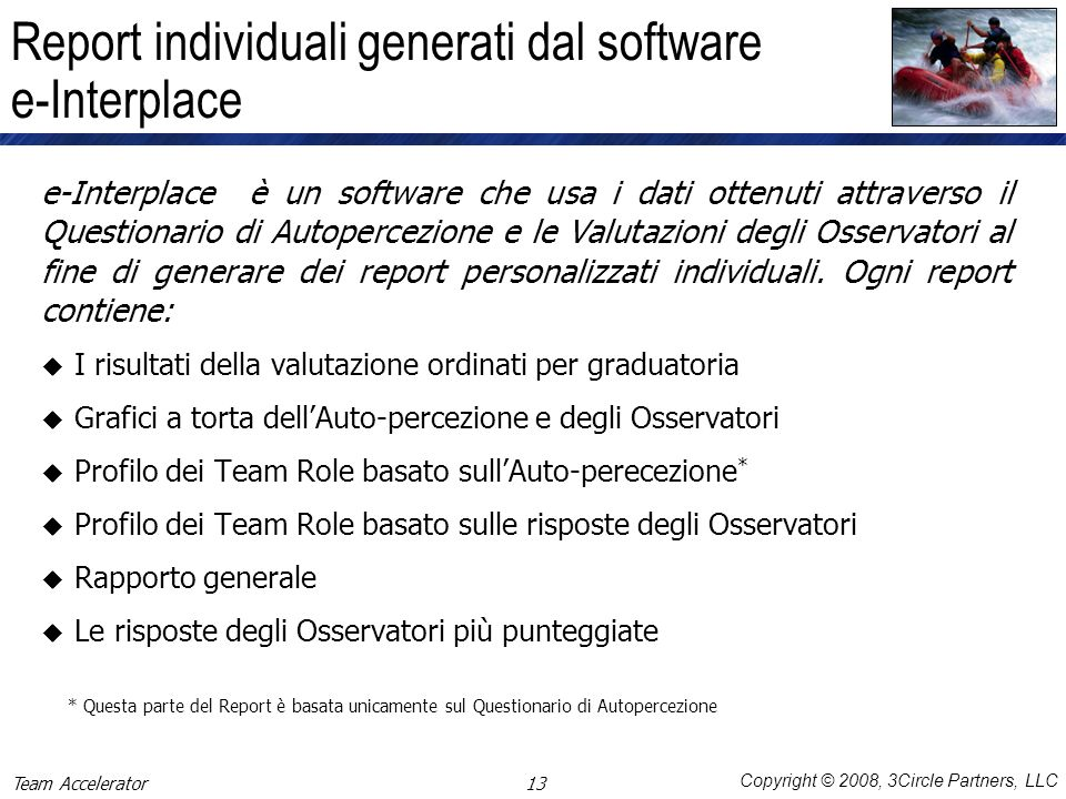 Report individuali generati dal software e-Interplace