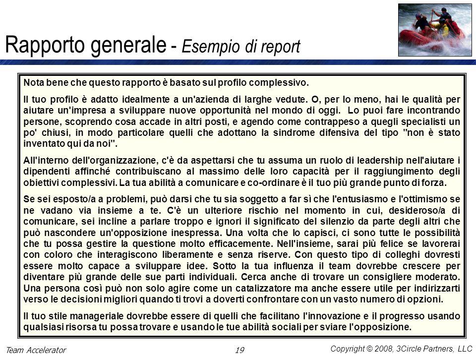 Rapporto generale - Esempio di report