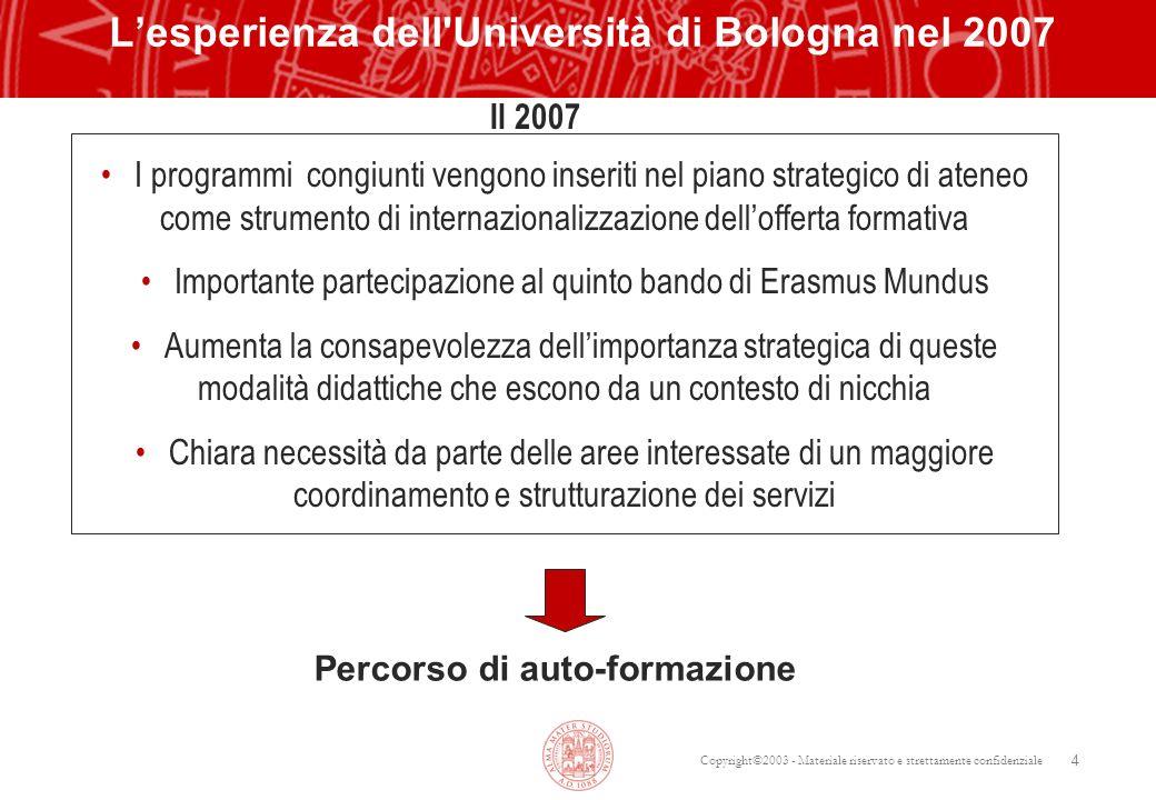 L'esperienza dell Università di Bologna nel 2007